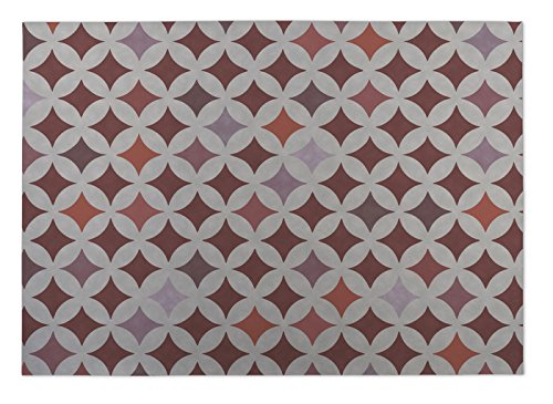 KAVKA Designs Diamond Nexus Indoor-Outdoor Floor Mat, (Rust/Grey/Orange) - , Size: 24x36x0.2 - (BGAAVC007FM23) - Rust Outdoor Transitional Four