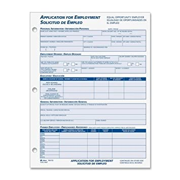 Employment Application Form In English  Spanish AbfEs