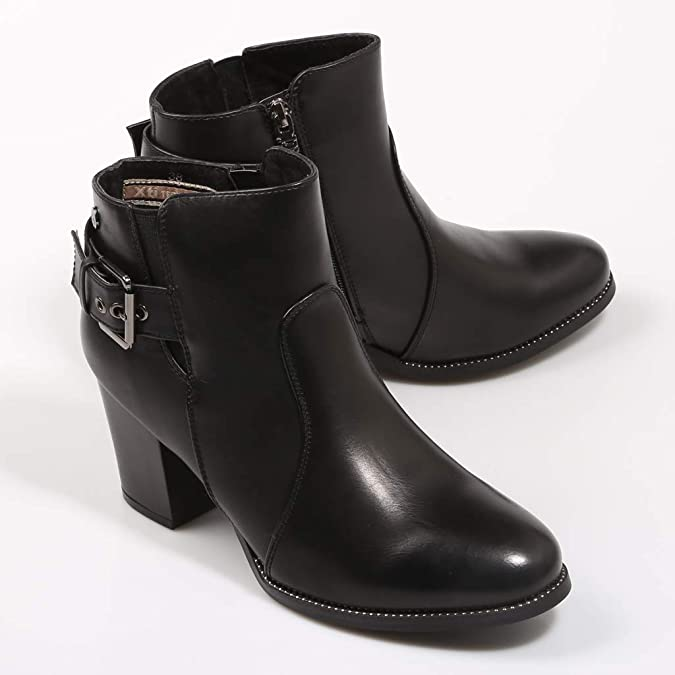 Brand New /& Boxed Xti Ladies Ankle Boot Black