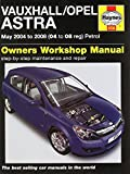 Vauxhall/Opel Astra: May 2004 to 2008 (04 to 08 Reg) Petrol (Service & repair manuals) by John S Mead (12-Sep-2014) Hardcover
