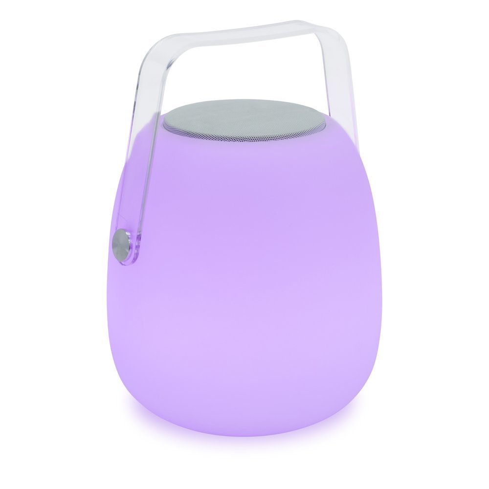 Mooni Opal Speaker Lantern - Indoor/Outdoor Wireless Bluetooth Speaker and 7 Color LED Lantern with 5 Light Modes (31975)