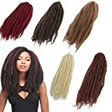 3Packs Afro Kinky Marley Braids Hair Extensions 18'' Synthetic Afro Kinky Twist Crochet Braiding Hair Mixed Color Bulk Twist Crochet Braids 60g/pc Synthetic Hair For Braiding African Twist (Tbug)