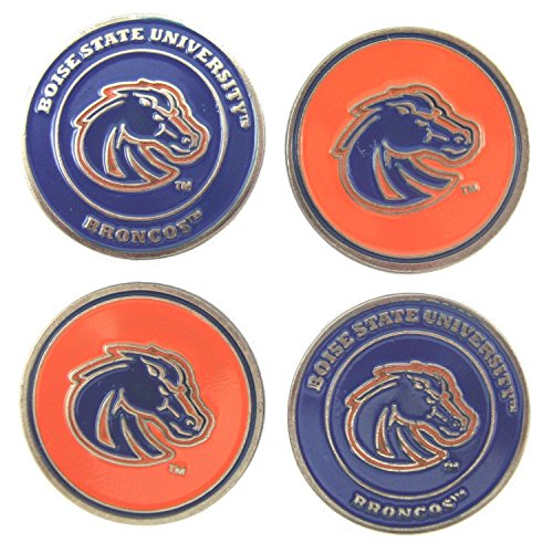 - Waggle Pro Shop Boise State Broncos Double Sided Golf Ball Markers (Set of Four)