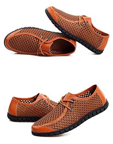Que Transpirable Urbano Lxxamens Deportivo Sandalias Los Verano Brown Deportivas Malla Calzado Zapatos Emigran Informal wqT6gX6