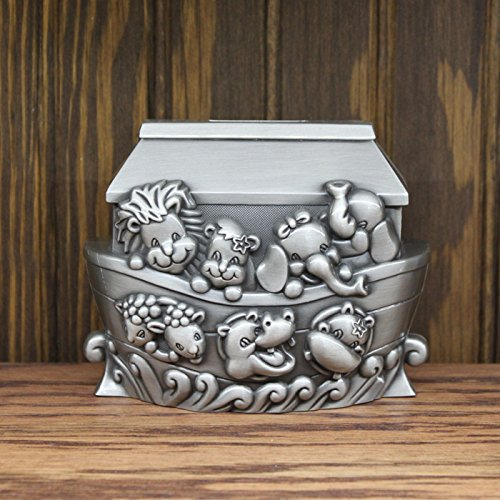 Center Gifts Personalized Decorative easy Engraving Noah's Ark Animal Money Bank