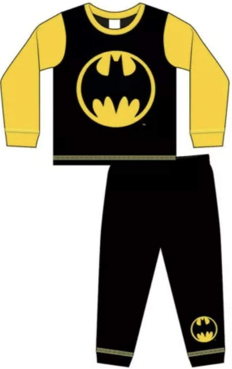 Niños DC Batman Superhero Batman Logo Pijama Amarillo Negro ...