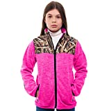 TrailCrest Children's C-Max Full Zip Fleece Jacket, Mossy Oak Shadow Grass Blades Camo