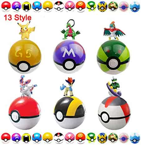 Moonideal 12 Pcs Different style Toy ball + 24 Pcs Rondom Different style Animal Figures