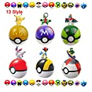 Moonideal 12 Pcs Different style Toy ball + 24 Pcs Random Different style Animal Figures