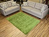 RugStylesOnline, Shaggy Collection Shag Area Rugs, 5'x7' - Green