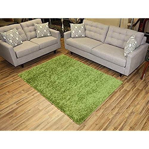 Superior RugStylesOnline, Shaggy Collection Shag Area Rugs, 5u0027x7u0027   Green