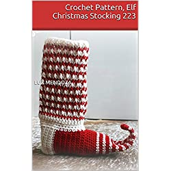 Crochet Pattern, Elf Christmas Stocking 223