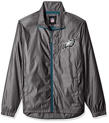 G-III Sports NFL Philadelphia Eagles The Executive Full Zip Jacket, Large, Charcoal Gray for $<!--$74.99-->