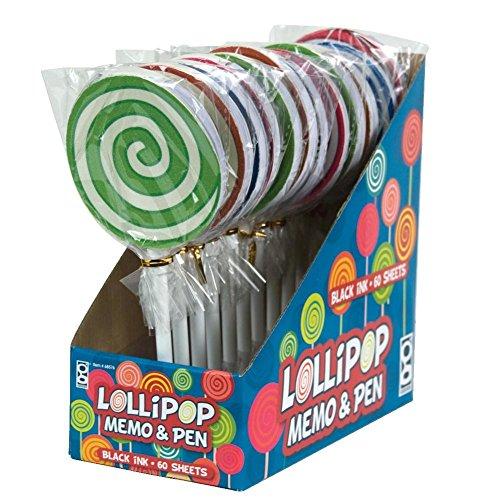 Raymond Geddes Lollipop Memo Pad with Pen Set, 12 Pack (68576)