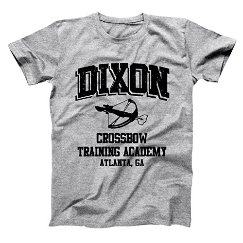 USA Direct Daryl Dixon Crossbow Training Academy Walking Dead Zombie Mens Shirt XX-Large Gray