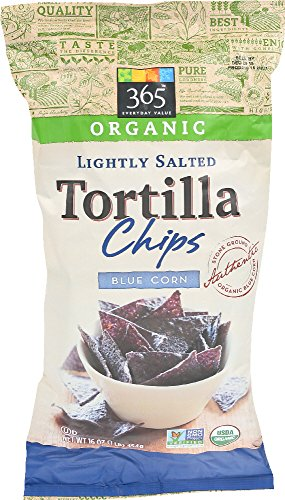 365 Everyday Value, Organic Lightly Salted Tortilla Chips, Blue Corn, 16 (Foods Blue Corn Tortilla Chips)