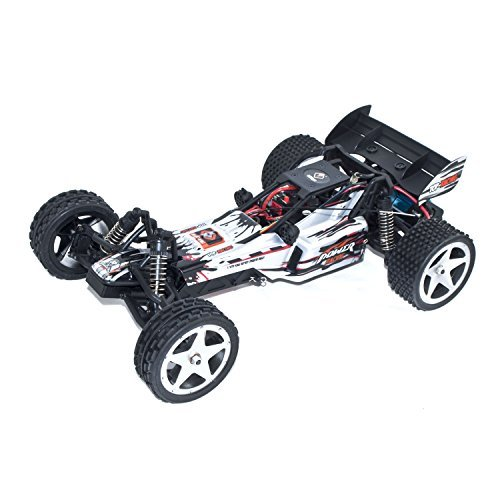 ALEKO 66202 Electric Powered Brushless Motor High Speed Off-Road Buggy, White 1/12 Scale