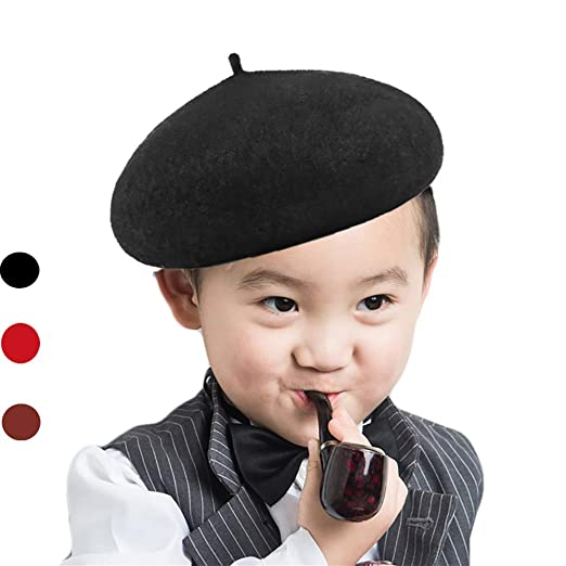 0bec7cdcb7 Amazon.com  X W Beret Cap for Boys Girls