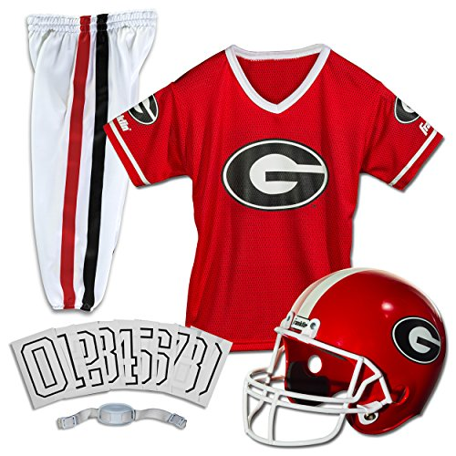 Kit Ncaa Party (Franklin Sports NCAA Georgia Bulldogs Deluxe Youth Team Uniform Set, Medium)