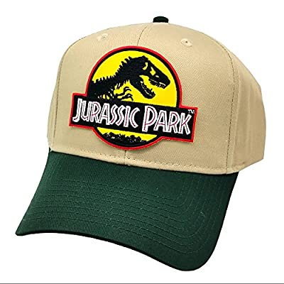 Jurassic Park Yellow Sci fi Movie Patch Snapback Cap Green Khaki Hat Project T by Project T