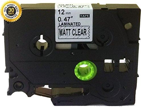 Black on Matte Clear Label Tape Compatible Brother TZ TZe M31 TZM31 TZeM31 P-Touch 12mmx8m 0.47 26.2ft