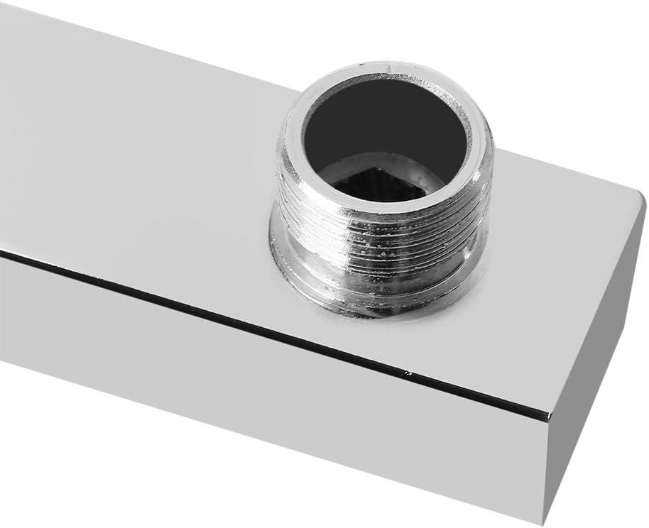 1.2 /× 0.7 /× 15.7in GOTOTOP Brazo de extensi/ón de Ducha para Cabezal de Ducha Tipo Lluvia Accesorios de Cabezal de Ducha de Acero Inoxidable Ajustable montado en la Pared