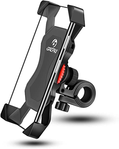 Universal Bike Mount for Cell Phone Bicycle Handlebar Mobile Phone Holder Cradle Clamp/& Motorcycle Holder Cradle with 360 Rotate for 3.5 to 6.5 inch FEYG Bike Phone Holder