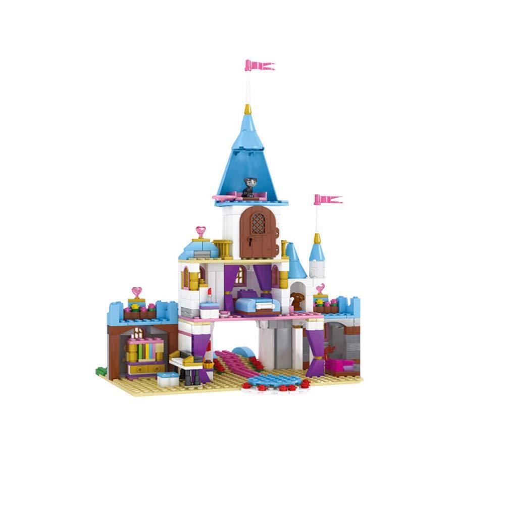DYMAS Juguete Niños de 08/06/10 años Puzzle Montaje plástico construcción Bloques de Juguetes romántico Castillo