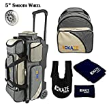 Cheap KAZE SPORTS 3 Ball Bowling Roller with Color Match Add On Spare Tote and Accessories Pack (Cream)
