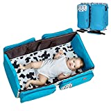 Infant Travel Bassinet Diaper Bag, 3 in 1 Portable Changing Station ,Baby Travel Crib & Diaper Bag,Bonus Stroller Attachment for Boys and Girls (Brown)