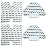Cleaning Pads Replacement Compatible with Shark Steam Mop S5003D Lift-Away Pro Mop S3973D S6002 S6003 S5001 Washable Microfiber Pads Vacuum Cleaner Attachment 4Pcs