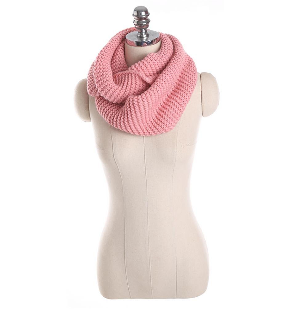 SALY Bufandas de lana gruesa de otoño e invierno , pink