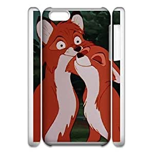 Protection Cover iphone6 4.7 3D Cell Phone Case White Hicql The Fox and the Hound Durable Rubber Cases