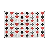 Ethel Ernest Non-slip Doormat Amazing Poker Cards Pattern Area Rug Carpet Floor Mats Door Mat Indoor Outdoor Bathroom