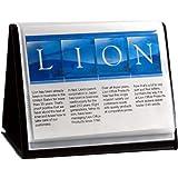 Lion Flip-N-Tell Display Book-N-Easel, Letter, 20-Pocket, Horizontal, 1 Easel Display Book (39008-H)