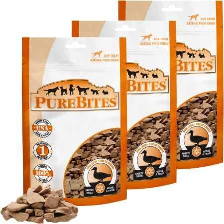 PureBites Duck Liver FreezeDried Treats for Dogs 3 Pack 7.8 oz