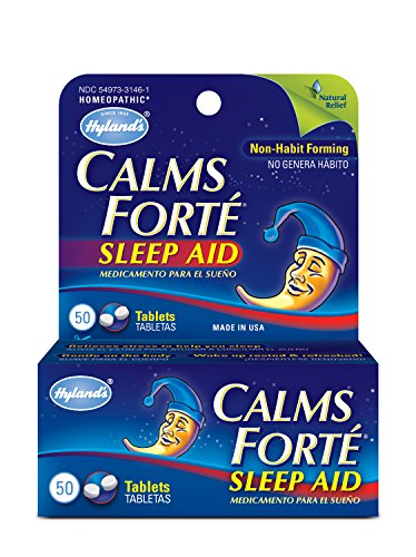 Hyland's Calms Forte Homeopathic Sleep Aid Tablet, 50 Count