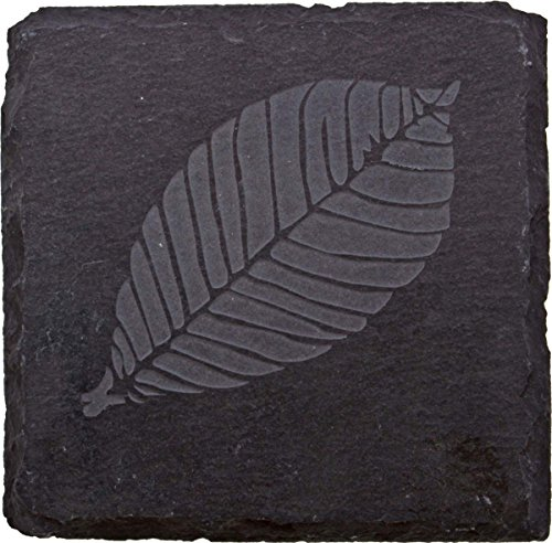 Thirstystone Etched Leaf Slate Coaster, ()