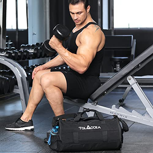 Tolaccea Gym Bags Sport Duffel Bags for Men Basketball Sport Bags with Shoes Compartment &Wet Pocket Travel Duffel Bag E-friendly&Lightweight
