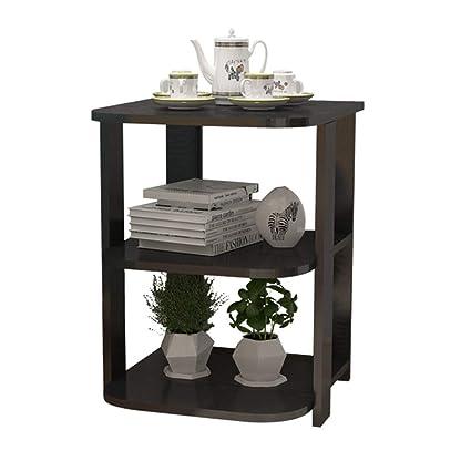Amazon Com Gwdj Side Table Solid Wood Reinforce Layering Corner