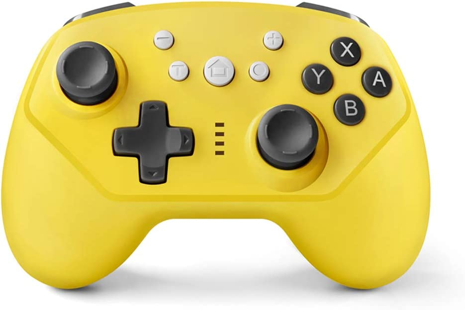 Wireless Controller for Nintendo Switch,Switch Lite and Android,Wired PC and P3,Switch Pro Controller with Turbo,Gyro Axis and Dual Vibration (Yellow)