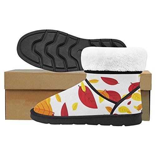 Snow Stivali Da Donna Di Interestprint Stivali Invernali Comfort Dal Design Unico Colorato Foglie Autunnali Multi 1