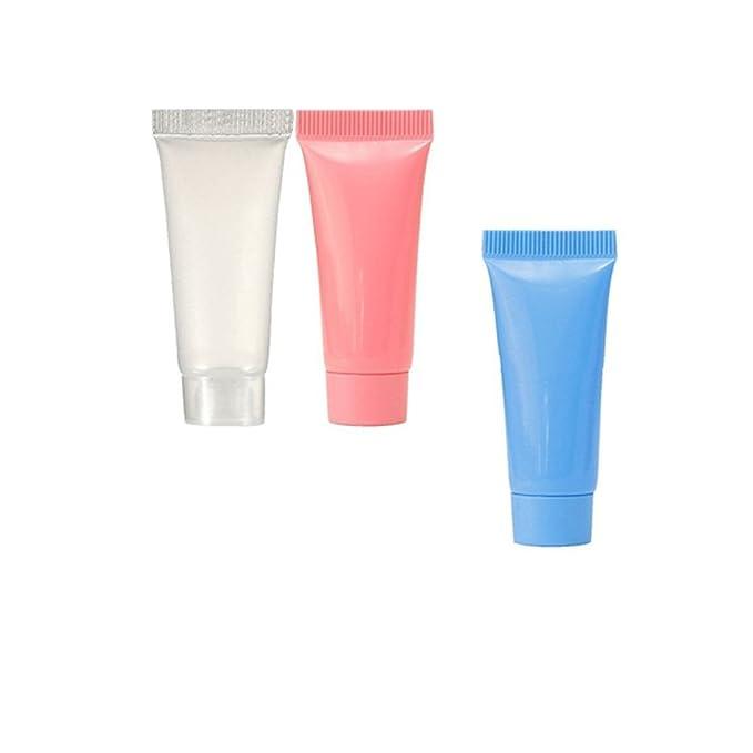 561beb7aece8 10 Pcs 5ml Plastic Cosmetic Cream Tube Travel Empty Small Makeup Cream  Lotion Lip Balm Container Bottle (clear)
