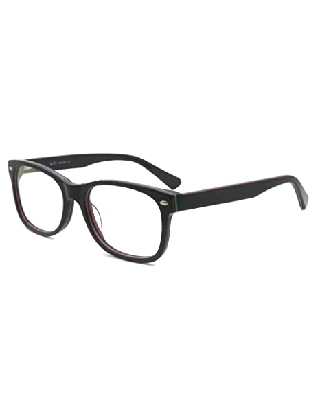 774f366e2a Amazon.com  Men Women Brand Design Rivet Optical Frame Rx-able ...