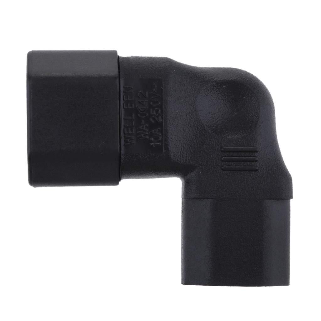 P Prettyia Adattatore per Prolunga di Alimentazione A 3 Pin con Presa da 90 Gradi per Prese da 90 Gradi Ad Angolo CCD da IEC 320 C14 A C13