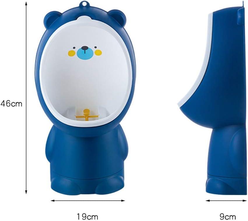 PinShang Baby Boys Urinal Stand Cartoon Potty Infant Toddler Toilet Training Children Pissoir with Adjustable Base dark blue
