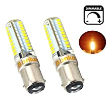 Bonlux 5W 110V 400lm Dimmable Ba15d Double Contact Bayonet Base LED Light Bulb, T3/T4/C7/S6 LED Halogen Replacement Bulb (Warm White, Pack of 2)