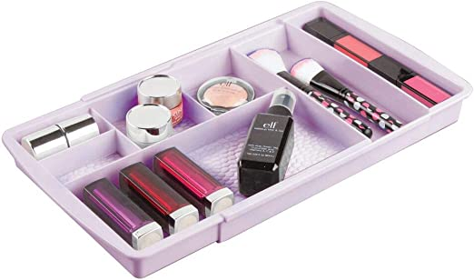 mDesign Organizador de cosméticos con divisiones – Caja ...