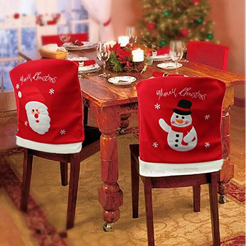 Snowman Christmas Chair Cover