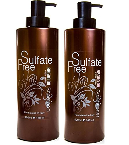 Moroccan Argan Oil Shampoo and Conditioner FREE ECO Wooden Hair...